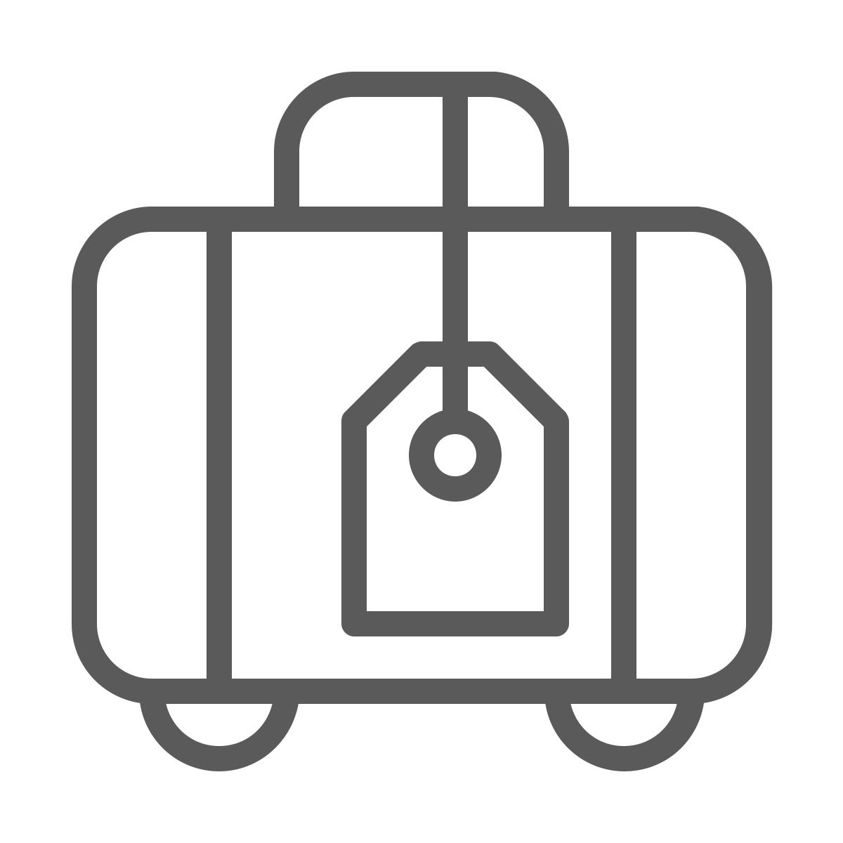 Suitcase symbol